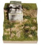 "JGM 52E  D-Day Cliff with Concrete Bunker   12"" square x 12"" high"